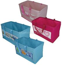 FOLDING KIDS CHILDREN STORAGE BAG FOR TOYS BOOKS LAUNDRY CLOTHES BOYS GIRLS