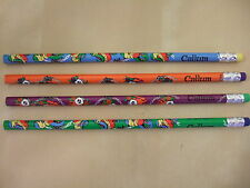 Personalised Boys Pencils with Rubbers Pack of 4 Patterned - Names J to Z