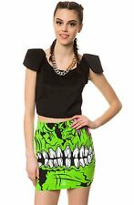 IRON FIST LADIES ZOMBIE CHOMPER MINI SKIRT (L3C)