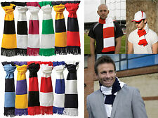RESULT ACRYLIC FOOTBALL RUGBY SUPPORTERS WINTER BAR STRIPE TEAM SCARF R146X