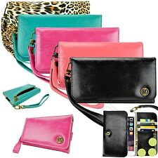 Luxury Purse Wallet Card Holder Case Cover For T-Mobile Smartphone Cell Phone