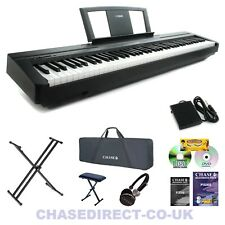Yamaha P-45s Digital Electric Piano Keyboard Now With Piano Style Sustain Pedal