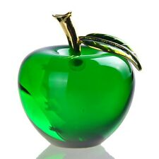 Stunning Crystal Apple Paperweight Home Decor Crafts Wedding Favors Xmas Gifts