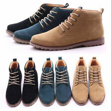 New Fashion Korean Men's Casual Nubuck leather high-top shoes Martin boots  EQ25