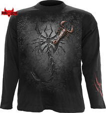 Spiral Direct TRIBAL SCORPION Men's Long Sleeve T-shirt/Biker/Skull/Tattoo/Top