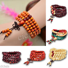 New Vintage Rosewood Bead Traditional Tibetan Mala Necklace Bracelet 108 6mm