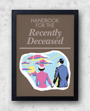 "Beetlejuice Poster! ""Handbook for the Recently Deceased"" tim burton, horror cult"