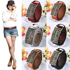 Retro FL PD3 Women Charming Genuine Leather Cow Leather Hollow Out Buckle Belts