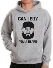 CAN I BUY YOU A BEARD? Hoodie Fear The Beards Drinking BEER Respect The Beard