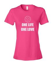 One Life One Love Volleyball Women's Ladies' Fashion Fit T-Shirt Shirt Top