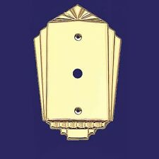 Art Deco Style Dimmer Switch or Coaxial Cable Cord Covers Plates Wall (L-W34)