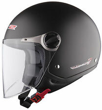 LS2 OF560 ROCKET II OPEN FACE MOTORCYCLE CRUISER HELMET MATT BLACK + FREEBIES