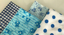 BABY BOY BUNDLE PATCHWORK FABRIC / MATERIAL SQUARES - BLUE