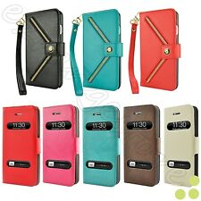 Slim Folio Wallet Leather Flip Stand Pouch Case Cover for Apple iPhone 5 / 5S