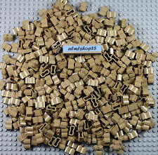 LEGO - Bulk Lot of 1x2 brick logs dark tan beige (#30136) Castle Friends blocks