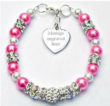Personalised Engraved Breast Cancer Awareness Bracelet Gift Fundraising Charity