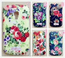 Oil-finished garden flower back case for Samsung Galaxy Trend Plus S7580 S7582