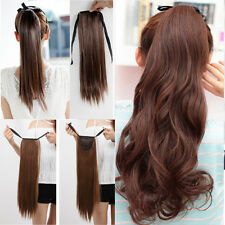 UK Best Selling Drawstring Clip In Ponytail Hair Extensions Free Shipping O