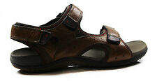 NEW MENS HUSH PUPPIES MITIGATE BROWN EXTRA WIDE SANDALS LEATHER CASUAL SHOES