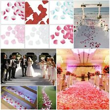100pcs Silk Flower Rose Petals Wedding Party Tablet Floor Decorations 38 Colors