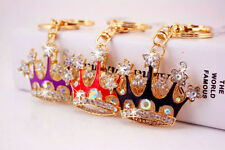 Christmas gift bling crystal Imperial crown charm Car Purse Key chain key ring