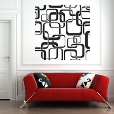 Square Patterns Wall Sticker Patterned Wall Decal Art