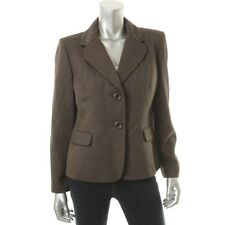 Le Suit Wild Spirit Brown Textured Lined Long Sleeves Blazer Jacket   - NEW