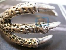 Retro Punk Gothic Eagle Bird Claw 3 Talons Bangle Bracelet Cuff Clamp 2 Colors
