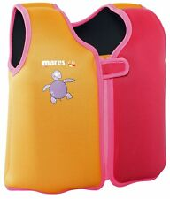Mares Childs Swim Training Jacket / Vest with Removable Buoyancy - Pink/Orange