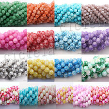 Wholesale 50pcs Colorful Floral Czech Crystal Glass Roud Craft Beads 6/8/10mm