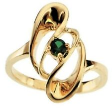 Custom Made One-Stone Mothers Ring in 14kt Yellow Gold, Choose Your Stones