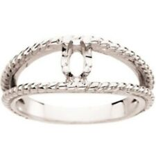 Custom Made One-Stone Mothers Ring in 14 kt White Gold, Choose Your Stones