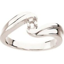 Custom Made One-Stone Mothers Ring in 14kt White Gold, Choose Your Stones