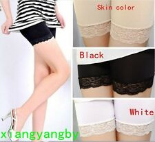 Women Girls Lace Tiered Skirts Short Skirt Dress Under Safety Legging Hot Pants