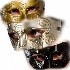 ADULT OPERA MEN GLADIATOR MASQUERADE BALL FANCY DRESS FACE EYEMASK ROME EYE MASK