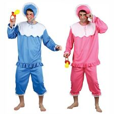 Mens Ladies Adult BIG BABY Fancy Dress Romper Babygrow Costume Stag Hen Outfit