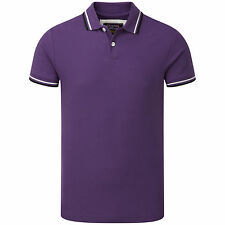 Charles Wilson Men's 100% Cotton Piqué Tipped Polo Shirt New T-shirts Tee Top