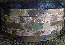 "Military Webbing 1"" Mil-Spec-Kryptek-Multicam-Digital-Double Sided, Per Yard"