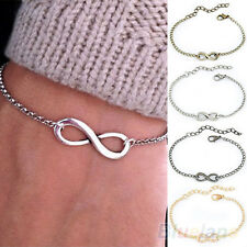 Womens Girls Personality Bracelet Chain Vintage Infinity Sign Bangle Nice Gift
