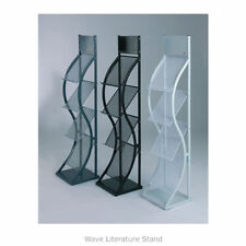 Wave Literature Brochure Magazine Stand. Freestanding for Reception & Showrooms