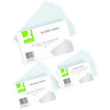 Pack of 100 Quality Record Cards White Feint Ruled Flash Revision Report