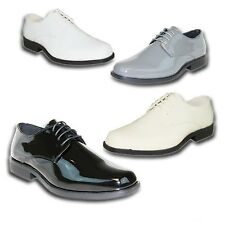 VANGELO/ TUX-1 Men Dress Shoes Tuxedo For Formal Wedding & Prom Wrinkle Free