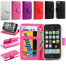 Luxury Magnetic Flip Leather Card Wallet Stand Case Cover For Apple iPhone 4 4S