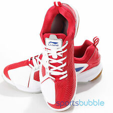 Li-Ning Badminton Professional Mens Training Indoor Shoe Trainers White & Red