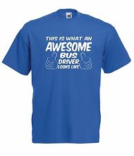 AWESOME BUS DRIVER tee present NEW Boys Girls Kids sz T SHIRT TOP Age 1-15 Years