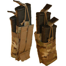 ATS Tactical Double Tiered AR 5.56 Shingle Magazine Pouch-Multicam-Coyote-OD-BK