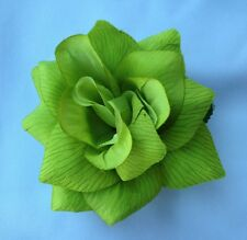 LIME GREEN FLOWER HAIR CLIP FOR MEXICAN FIESTA,5 DE MAYO,DAY OF THE DEAD,WEDDING