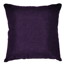 Qh01a Dark Purple Thick Cotton Blend Style Cushion Cover/Pillow Case Custom Size