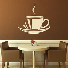 Cup And Saucer Wall Sticker Tea Cup Wall Decal Art