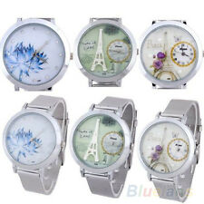 New Useful Stainless Steel Women's Round Dial Mesh Quartz Wrist Watch Hot BEBU
